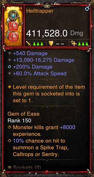 [Primal Ancient] 411k DPS Helltrapper-Diablo 3 Mods - Playstation 4, Xbox One, Nintendo Switch