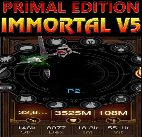 [Primal Ancient] Immortality v5 Titan FOH Speed WW Waste Barbarian Modded Set for Rift 150 Wind-Diablo 3 Mods - Playstation 4, Xbox One, Nintendo Switch
