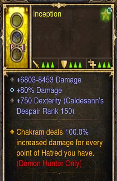 Chakram deals 100% Additional Damage Demon Hunter Modded Ring (Unsocketed) Inception-Diablo 3 Mods - Playstation 4, Xbox One, Nintendo Switch