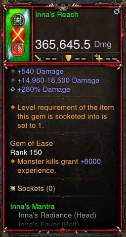 [Primal Ancient] 365k Actual DPS Innas Reach-Diablo 3 Mods - Playstation 4, Xbox One, Nintendo Switch