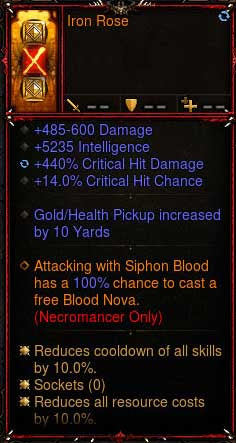 [Primal Ancient] 2.6.6 Iron Rose Necromancer Offhand