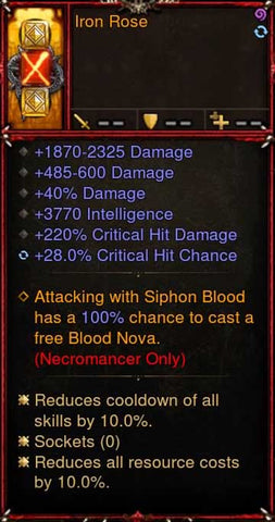 [Primal Ancient] [Quad DPS] 2.6.5 Iron Rose Necromancer Offhand