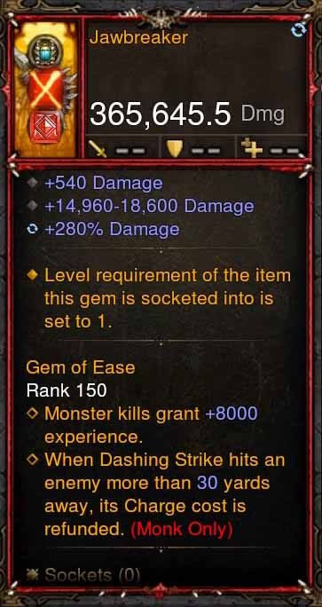 [Primal Ancient] 365k Actual DPS Jawbreaker-Diablo 3 Mods - Playstation 4, Xbox One, Nintendo Switch