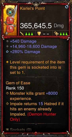 [Primal Ancient] 365k Actual DPS Karleis Point-Diablo 3 Mods - Playstation 4, Xbox One, Nintendo Switch