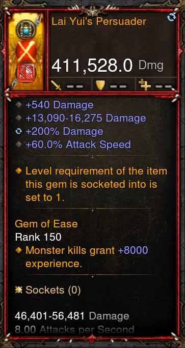 [Primal Ancient] 411k DPS Lai Yuis Persuader-Diablo 3 Mods - Playstation 4, Xbox One, Nintendo Switch