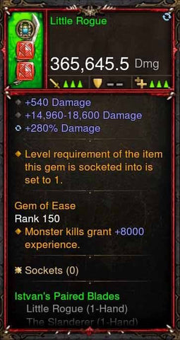 [Primal Ancient] 365k Actual DPS Little Rogue-Diablo 3 Mods - Playstation 4, Xbox One, Nintendo Switch