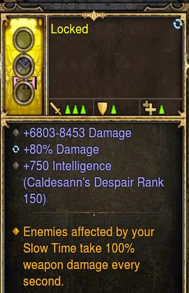 Slow Time 100% Damage Wizard Modded Ring (Unsocketed) Locked-Diablo 3 Mods - Playstation 4, Xbox One, Nintendo Switch