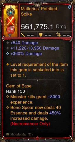 [Primal Ancient] 561k Actual DPS Maltorius Petrified Spike-Diablo 3 Mods - Playstation 4, Xbox One, Nintendo Switch