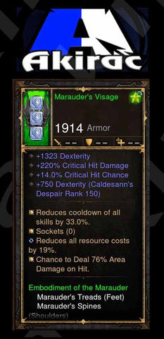 Custom PS4: Marauders Visage 220% CHD, 14% Crit, 76% Area Damage on Hit Modded Helm-Diablo 3 Mods - Playstation 4, Xbox One, Nintendo Switch