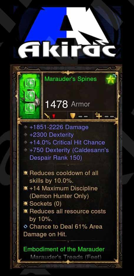 Custom PS4: Marauders Spines 220% CHD, 14% Crit, 61% Area Damage on Hit Modded Shoulder-Diablo 3 Mods - Playstation 4, Xbox One, Nintendo Switch