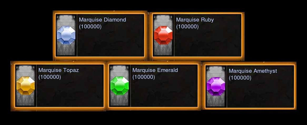 Marquise Gems Bundle-Diablo 3 Mods - Playstation 4, Xbox One, Nintendo Switch