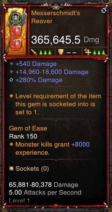 [Primal Ancient] 365k Actual DPS Messerschmidts Reaver-Diablo 3 Mods - Playstation 4, Xbox One, Nintendo Switch