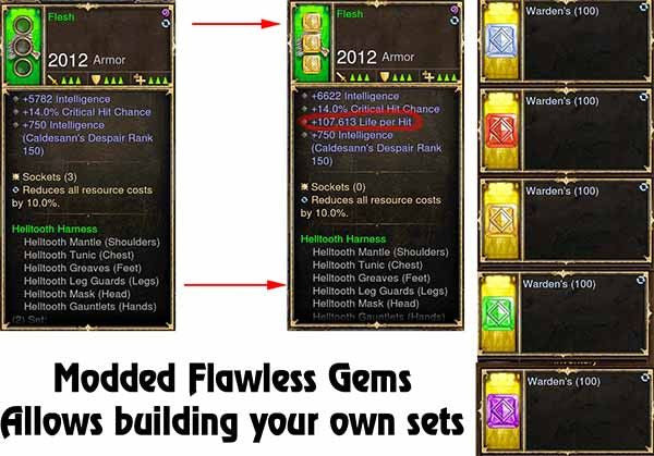 Modded Flawless Gems Variant Selector (Build your own Set)-Diablo 3 Mods - Playstation 4, Xbox One, Nintendo Switch