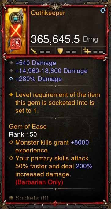[Primal Ancient] 365k Actual DPS Oathkeeper-Diablo 3 Mods - Playstation 4, Xbox One, Nintendo Switch
