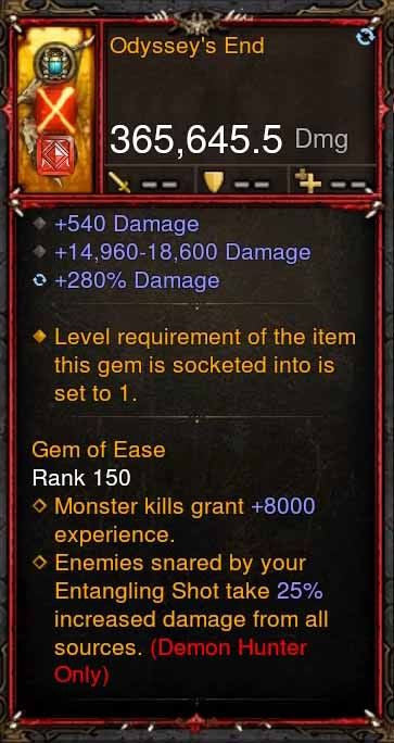 [Primal Ancient] 365k Actual DPS Odysseys End-Diablo 3 Mods - Playstation 4, Xbox One, Nintendo Switch