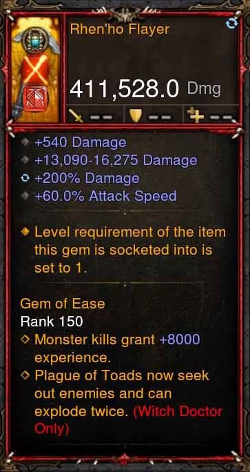 [Primal Ancient] 411k DPS Rhenho Flayer-Diablo 3 Mods - Playstation 4, Xbox One, Nintendo Switch