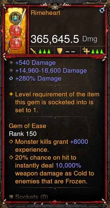 [Primal Ancient] 365k Actual DPS Rimeheart-Diablo 3 Mods - Playstation 4, Xbox One, Nintendo Switch