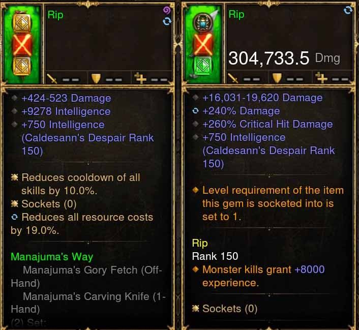Rip Addon: 304k + Mojo Actual DPS Manajuma's Combo Weapon-Diablo 3 Mods - Playstation 4, Xbox One, Nintendo Switch