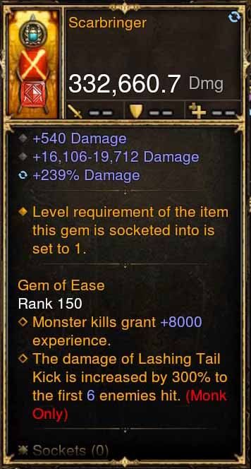 Scarbringer p4.2.2 332k Actual DPS Modded Weapon-Diablo 3 Mods - Playstation 4, Xbox One, Nintendo Switch