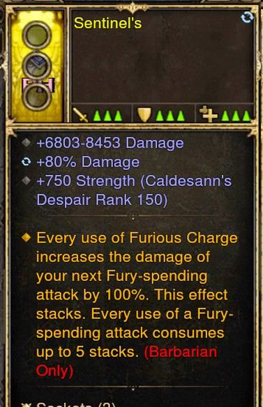 Furious Charge Increase all Damage Barbarian Modded Ring (Unsocketed) Sentinels-Diablo 3 Mods - Playstation 4, Xbox One, Nintendo Switch