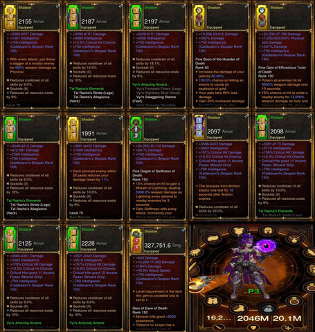 Shadow: Full Modded Vyr/Tals Wizard Set #A5-Diablo 3 Mods - Playstation 4, Xbox One, Nintendo Switch