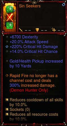 [Primal Ancient] 1-70 2.6.6 Sin Seekers Demon Hunter Quiver