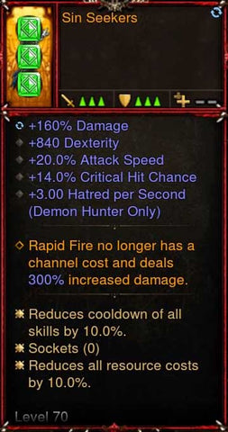 [Primal Ancient] [Quad DPS] 2.6.5 Sin Seekers Quiver Offhand