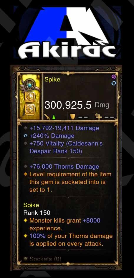 Custom PS4: Spike-Addon 100% Thorns Hack Axe-Diablo 3 Mods - Playstation 4, Xbox One, Nintendo Switch