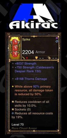 Custom PS4: Spike-Addon Aquila Cuirass Chest Armor-Diablo 3 Mods - Playstation 4, Xbox One, Nintendo Switch