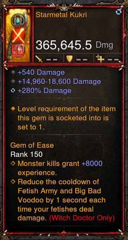 [Primal Ancient] 365k Actual DPS Starmetal Kukri-Diablo 3 Mods - Playstation 4, Xbox One, Nintendo Switch