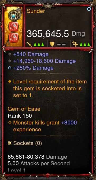 [Primal Ancient] 365k Actual DPS Sunder-Diablo 3 Mods - Playstation 4, Xbox One, Nintendo Switch