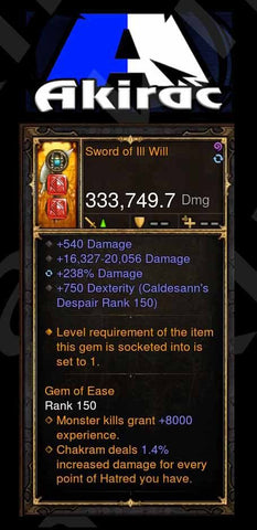 Custom PS4 Sword of ill Will 333k actual dps modded Sword-Diablo 3 Mods - Playstation 4, Xbox One, Nintendo Switch