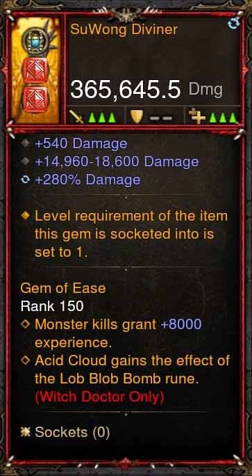 [Primal Ancient] 365k Actual DPS SuWong Diviner-Diablo 3 Mods - Playstation 4, Xbox One, Nintendo Switch