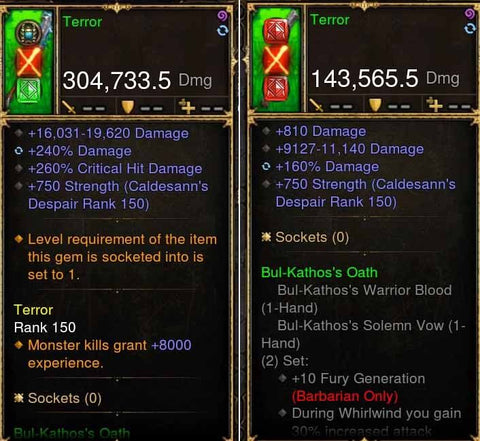 Terror Addon: 304k/143k Actual DPS Bul-Kathos Combo Set Weapon-Diablo 3 Mods - Playstation 4, Xbox One, Nintendo Switch