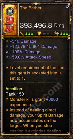 2.4.3 393k The Barber Dagger Witch Doctor Modded Weapon-Diablo 3 Mods - Playstation 4, Xbox One, Nintendo Switch
