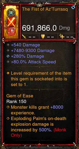 [Primal Ancient] [QUAD DPS] 2.6.1 The Fist of Az'Turrasq 691k DPS-Diablo 3 Mods - Playstation 4, Xbox One, Nintendo Switch