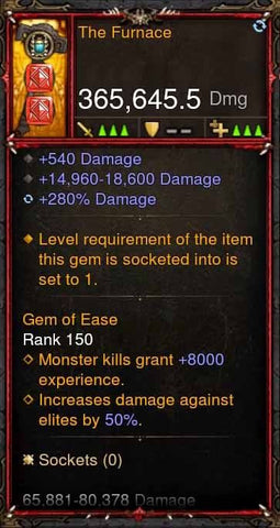 [Primal Ancient] 365k Actual DPS The Furnace-Diablo 3 Mods - Playstation 4, Xbox One, Nintendo Switch