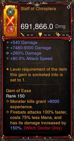 [Primal Ancient] [QUAD DPS] 2.6.1 Staff of Chiroptera 691k DPS-Diablo 3 Mods - Playstation 4, Xbox One, Nintendo Switch