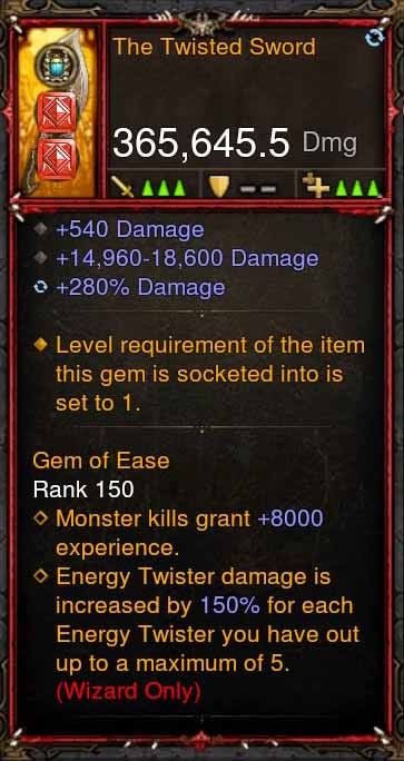 [Primal Ancient] 365k Actual DPS The Twisted Sword-Diablo 3 Mods - Playstation 4, Xbox One, Nintendo Switch