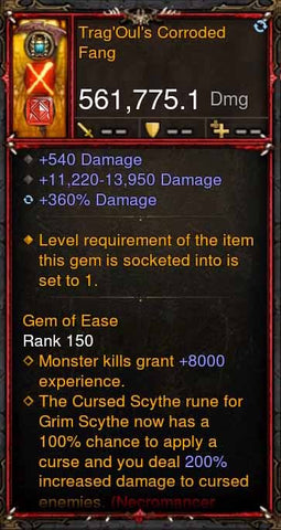 [Primal Ancient] 561k Actual DPS TragOuls Corroded Fang-Diablo 3 Mods - Playstation 4, Xbox One, Nintendo Switch