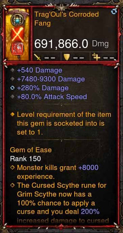 [Primal Ancient] 691k DPS TragOuls Corroded Fang-Diablo 3 Mods - Playstation 4, Xbox One, Nintendo Switch