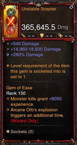 [Primal Ancient] 365k Actual DPS Unstable Scepter-Diablo 3 Mods - Playstation 4, Xbox One, Nintendo Switch
