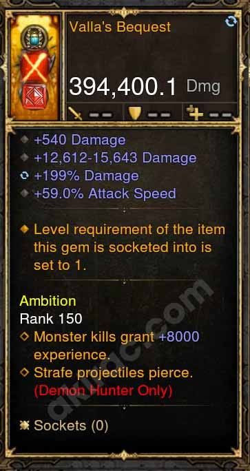 2.4.3 394k Valla's Bequest Hand Bow Modded Weapon-Diablo 3 Mods - Playstation 4, Xbox One, Nintendo Switch