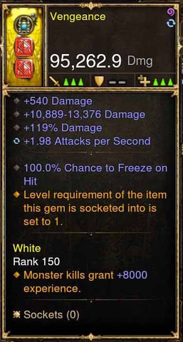 Vengeace 100% Freeze Bow 2.X APSpeed-Diablo 3 Mods - Playstation 4, Xbox One, Nintendo Switch