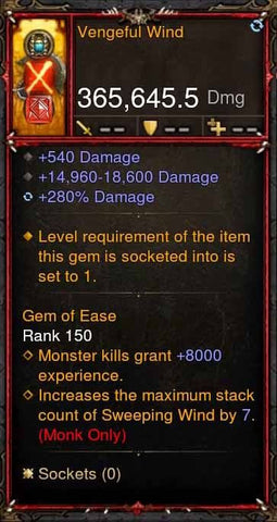 [Primal Ancient] 365k Actual DPS Vengeful Wind-Diablo 3 Mods - Playstation 4, Xbox One, Nintendo Switch