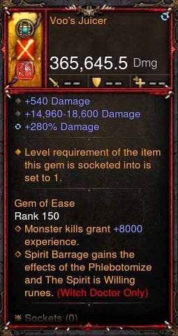 [Primal Ancient] 365k Actual DPS Voos Juicer-Diablo 3 Mods - Playstation 4, Xbox One, Nintendo Switch