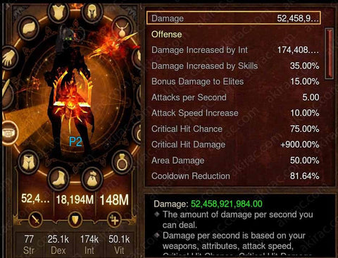 Prime Vyrs Wizard - High DPS #B5-Diablo 3 Mods - Playstation 4, Xbox One, Nintendo Switch