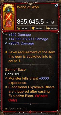 [Primal Ancient] 365k Actual DPS Wand of Woh-Diablo 3 Mods - Playstation 4, Xbox One, Nintendo Switch