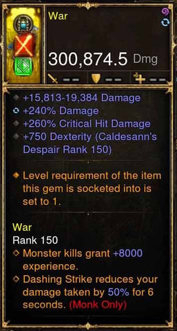 War Addon 300k Actual DPS 2.4.1 Crystal Fists Modded Weapon-Diablo 3 Mods - Playstation 4, Xbox One, Nintendo Switch