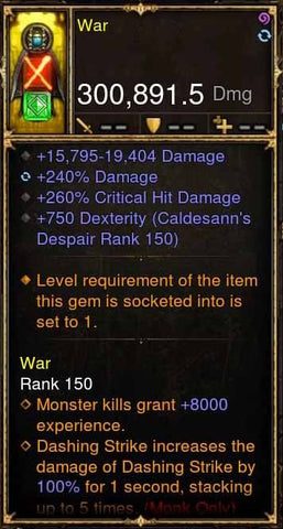 War Addon 300k Actual DPS 2.4.1 Flesh Rake Modded Weapon-Diablo 3 Mods - Playstation 4, Xbox One, Nintendo Switch